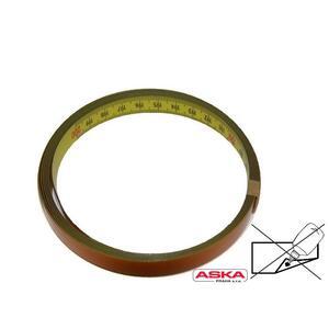 Metr nalepovací - ocel, PVC žlutý / 200 cm