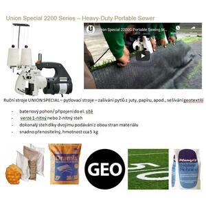 Stroje pro ruční zašívání pytlů (pytlovačky) UNION SPECIAL z USA