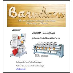 Japonské vyšívací stroje BARUDAN