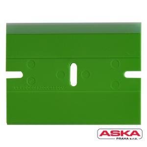Škrabka plastová s ochr. krytem (zelená)