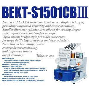 BARUDAN BEKT-S1501CBIII - NOVÝ VYŠÍVACÍ AUTOMAT - více prostoru, vhodný pro těžké materiály - 2