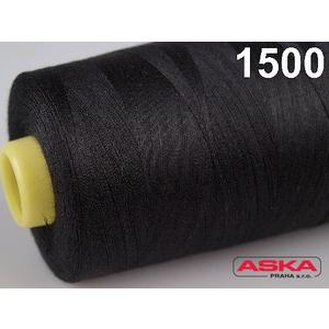 Nitě 100 % PES 40/2-5000Yds černá 500 - 2